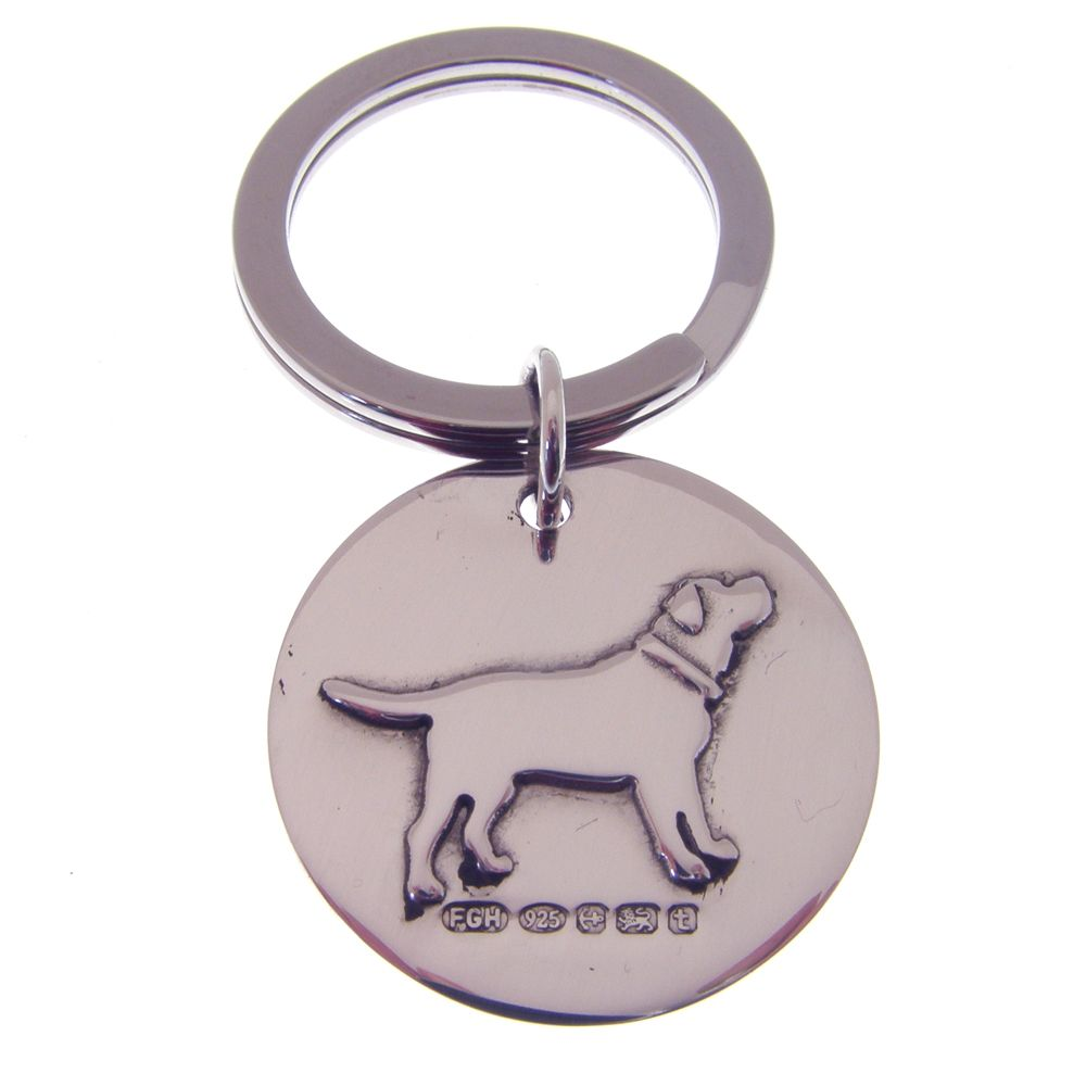 Silver Dog Key Ring