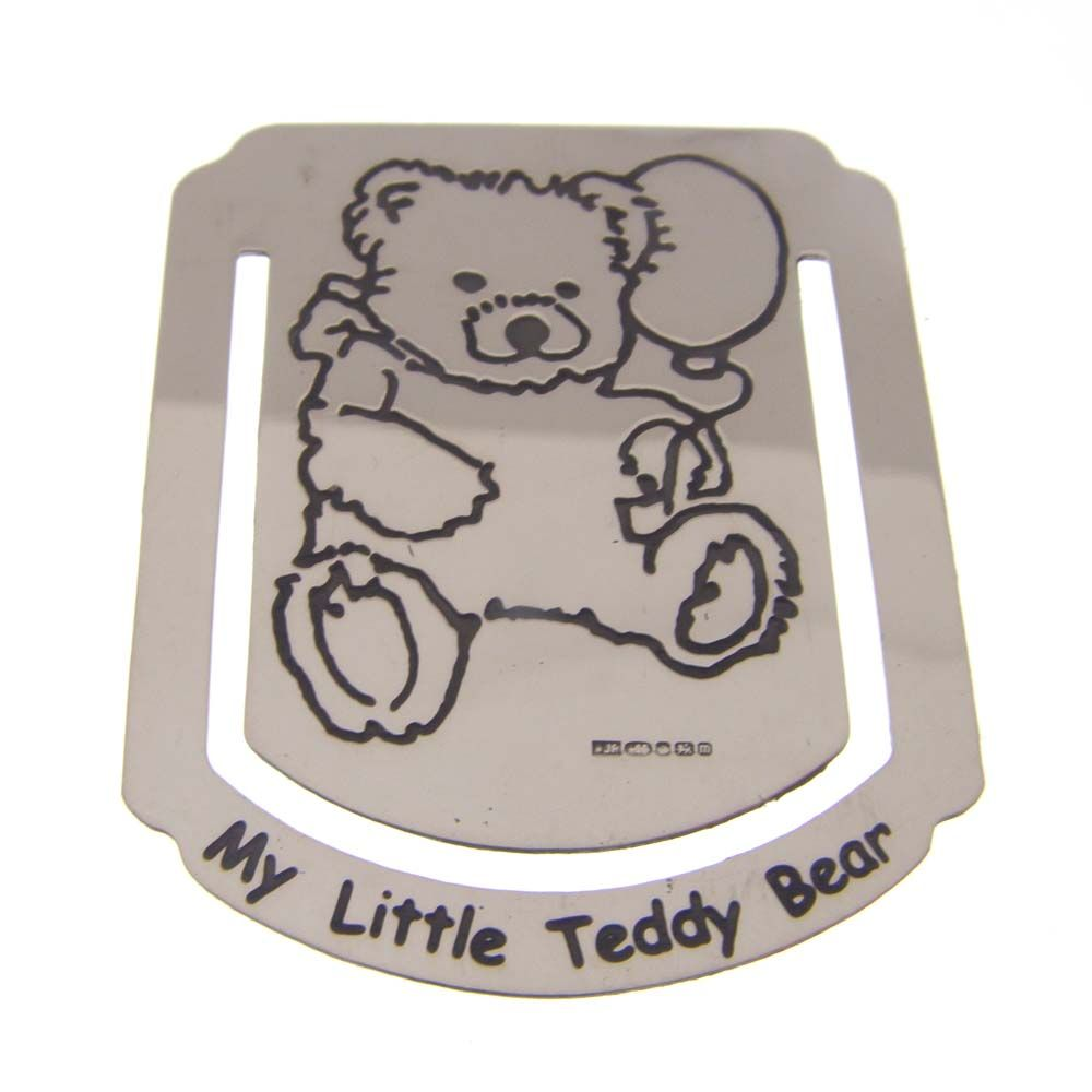 Silver Teddy Bear Bookmark