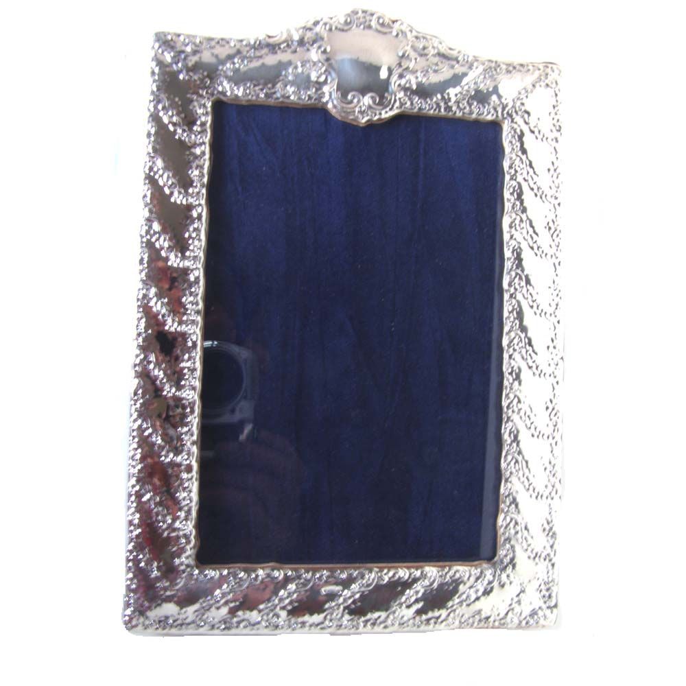 Sterling Silver Nouveau Picture Frame