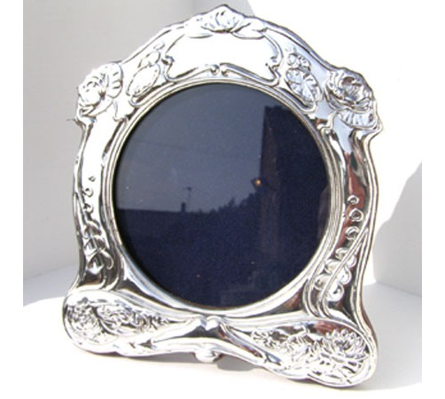 hallmarked silver art nouveau style photo frame