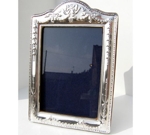 regency style silver photo frame hallmarked