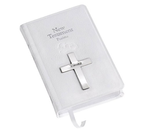 new testament bible with silver cross