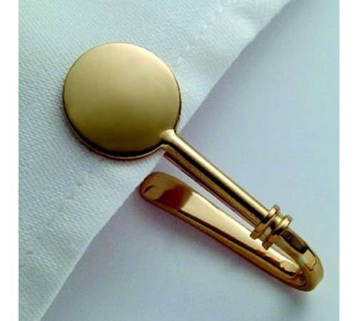 hallmarked 9 carat gold napkin hook