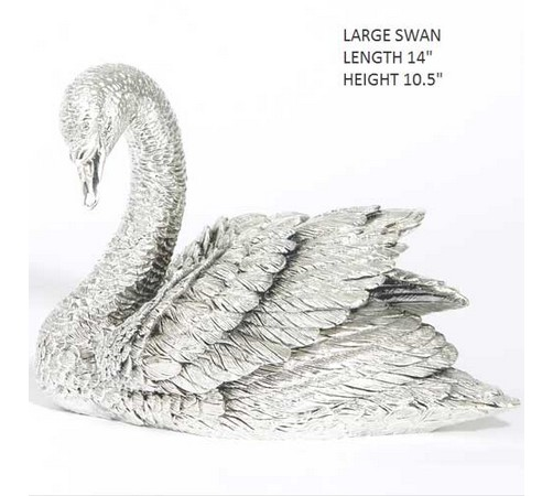large hallmarked silver figure of a swan