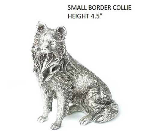 hallmarked silver border collie figure