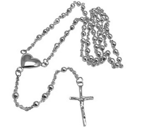 hallmarked sterling silver rosary beads