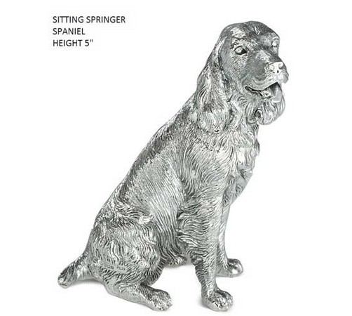 hallmarked sterling silver springer spaniel model