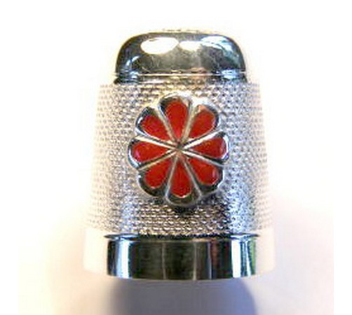 hallmarked sterling silver collectors thimble
