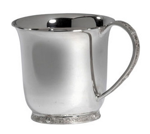 celtic style hallmarked silver christening cup