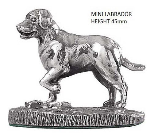 miniature hallmarked silver labrador model