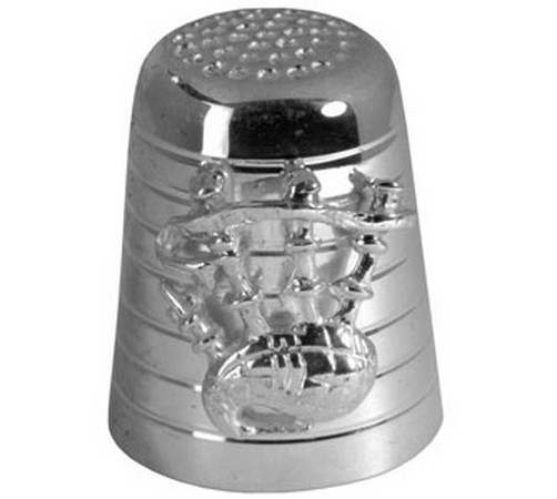 hallmarked silver scottish bagpipes thimble
