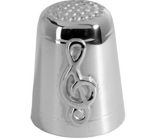 hallmarked silver treble clef thimble