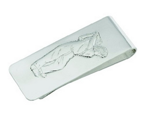 sterling hallmarked silver golfing money clip