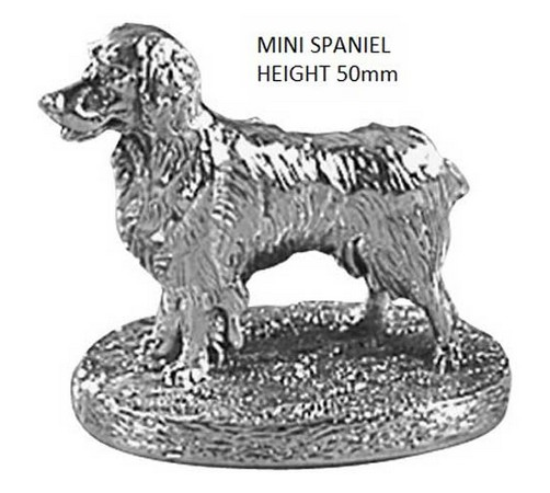 sterling silver spaniel dog figurine