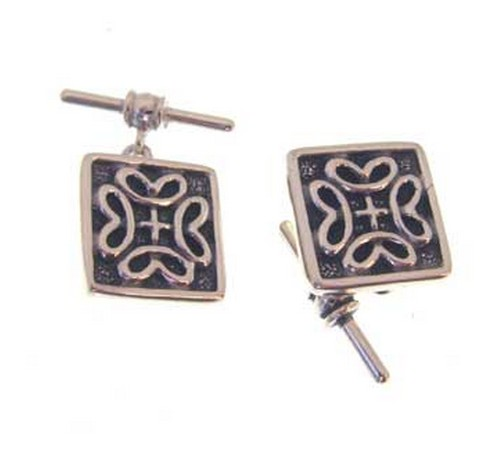 hallmarked silver celtic style cufflinks