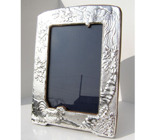silver art nouveau style photo frame hallmarked