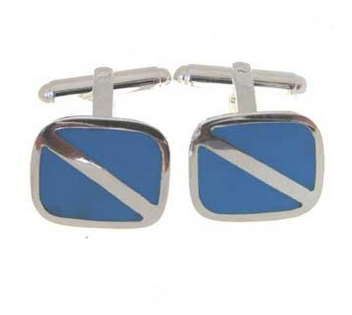 hallmarked silver and turquoise cufflinks. on special offer