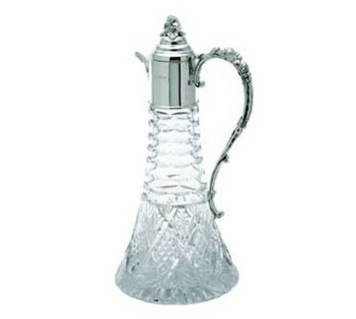hallmarked silver claret jug in a classic lighthouse shape