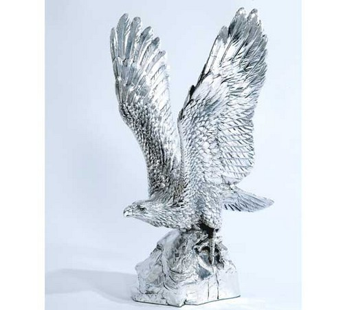 hallmarked silver model of an eagle