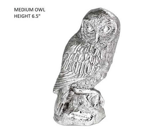 hallmarked silver figure of an owl