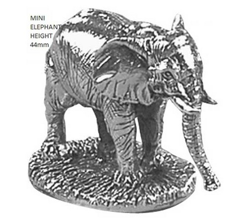 hallmarked silver small elephant figure