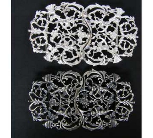 silver plated nurses buckle