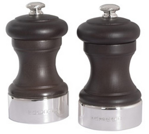 hallmarked silver and wooden peugeot pepper grinder