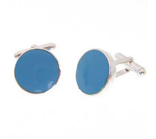 sterling silver cufflinks with turquoise stones. on special offer