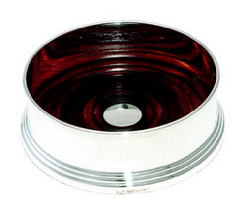 silver plated wine coaster 90mm diameter