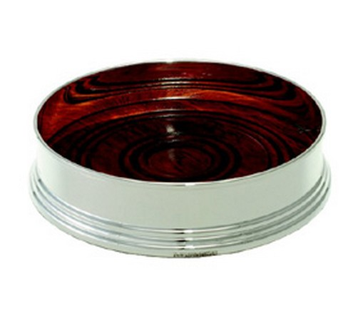 silver plated wine coaster 115mm diameter