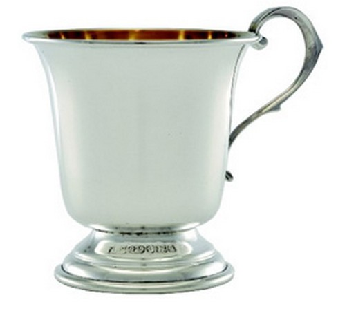 solid silver hallmarked christening cup