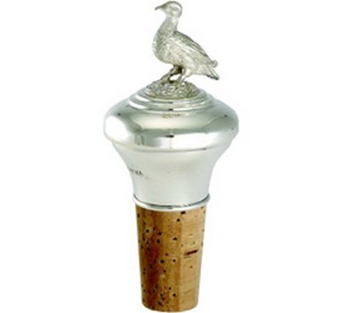hallmarked silver duck bottle stopper