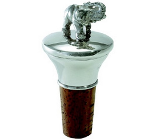 hallmarked silver elephant bottle stopper