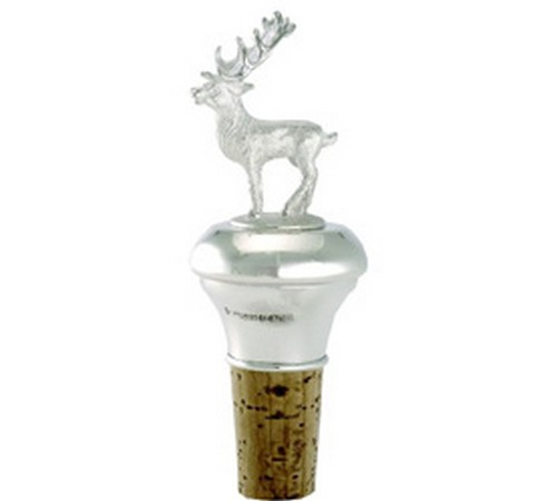 hallmarked silver stag bottle stopper