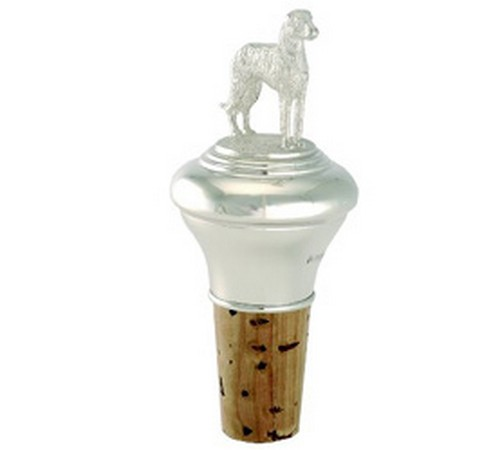 hallmarked silver irish wolf hound cork stopper