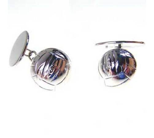 hallmarked silver football cufflinks