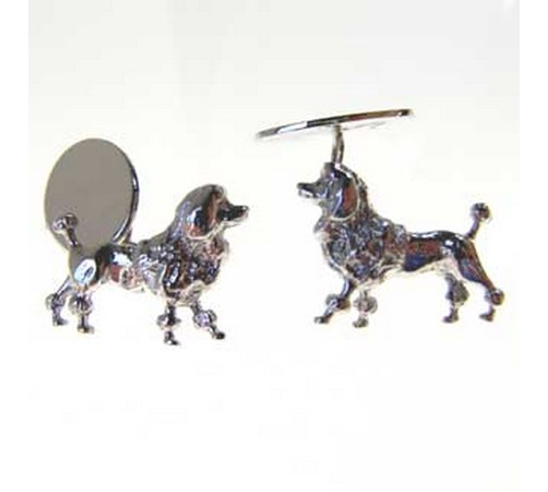 hallmarked silver toy poodle cufflinks