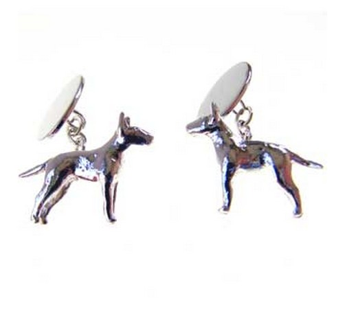 hallmarked silver english bull terrier cufflinks