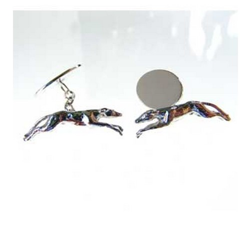 hallmarked silver greyhound cufflinks