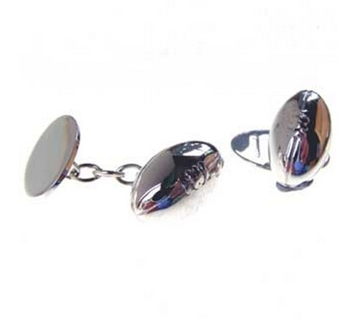 hallmarked silver rugby ball cufflinks