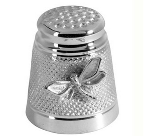 silver dragon fly thimble hallmarked