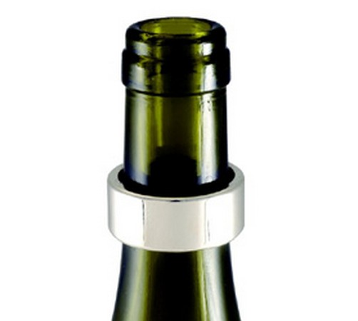 silver wine bottle drip collar