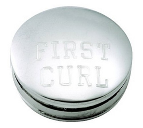 hallmarked sterling silver first curl box
