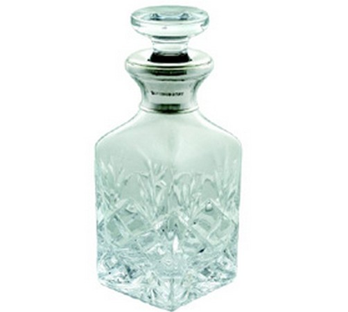 hallmarked silver liqueur decanter. on special offer