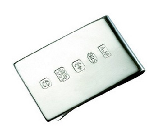 extra wide hallmarked silver money clip