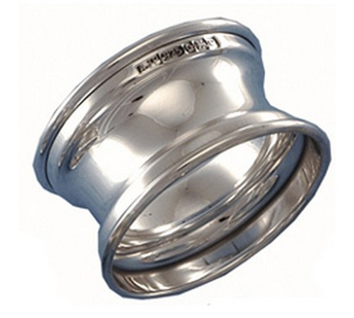 hallmarked silver concave shaped napkin ring