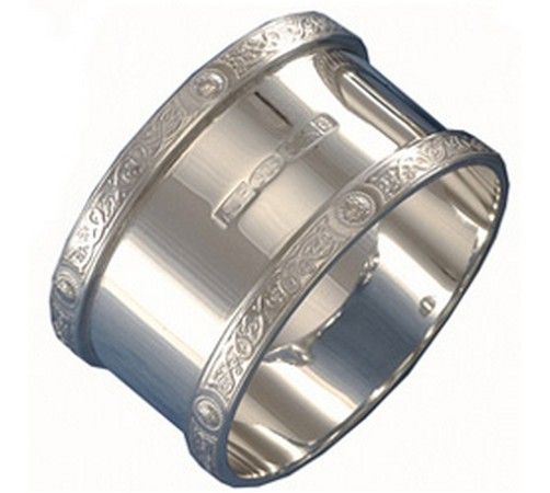 celtic silver napkin ring.  hallmarked silver celtic napkin ring