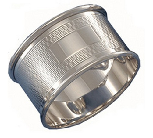 hallmarked silver engine turned napkin ring