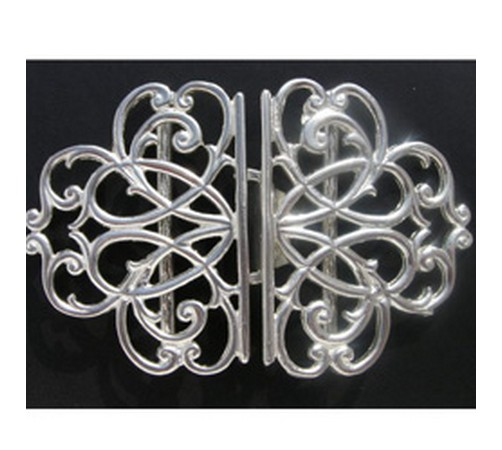 solid silver nurses buckle hallmarked