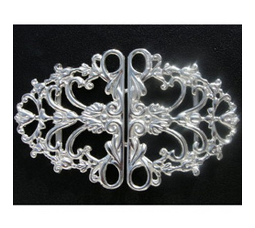 hallmarked solid silver nurses buckle